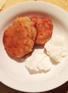 Crushed Pineapple Fritters